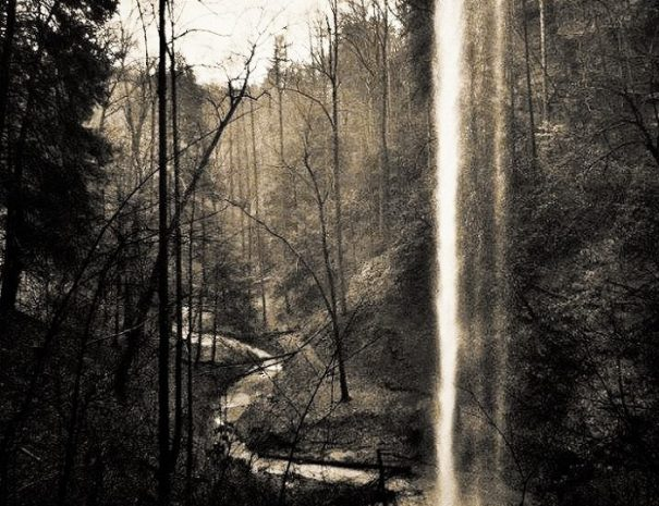 Torrent Falls in the Spring